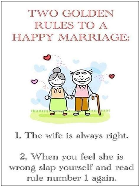 golden rules   happy marriage   wife       feel   wrong