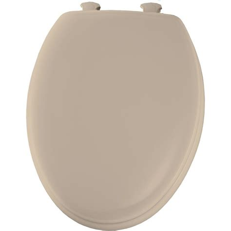 BEMIS Elongated Closed Front Toilet Seat in Fawn Beige ...