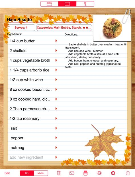 recipe for recipe manager with serving sizer ipad and ipad mini cooking software scale recipes in a snap