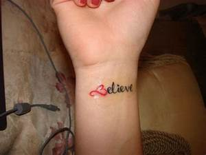 My Tattoo Site: Tattoos For Girls On Wrist Words