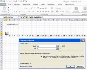 Excel Tage Aus Datum Berechnen : excel kalender wochenenden einf rben excel lernen ~ Themetempest.com Abrechnung