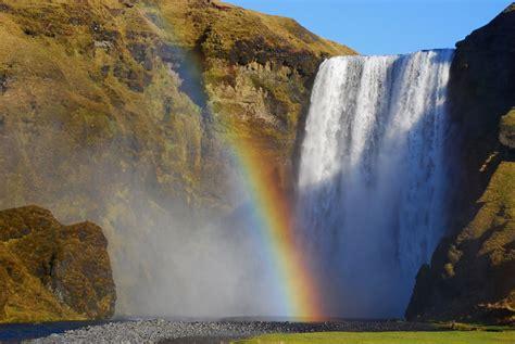 Skogafoss Waterfall With Rainbow, Iceland  The Greatest