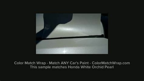 color match vinyl wrap vehicle wrap that matches any paint color honda white orchid pearl