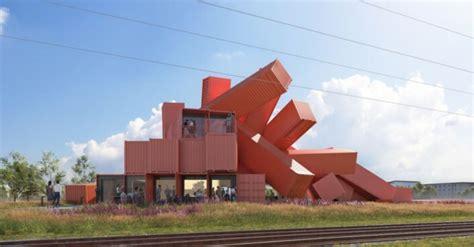artist david mach designs sculptural building