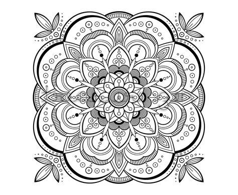 Printable Adult Coloring Book Page, Pdf Mandala Coloring