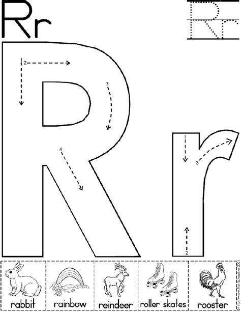 Alphabet Letter R Worksheet  Standard Block Font  Preschool Printable Activity Early