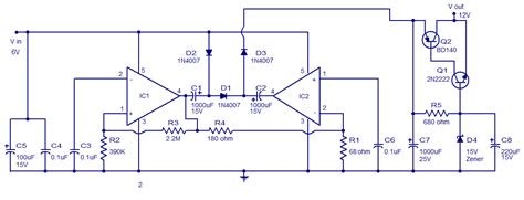 Voltage Converter Circuit Using Tda Simple Schematic