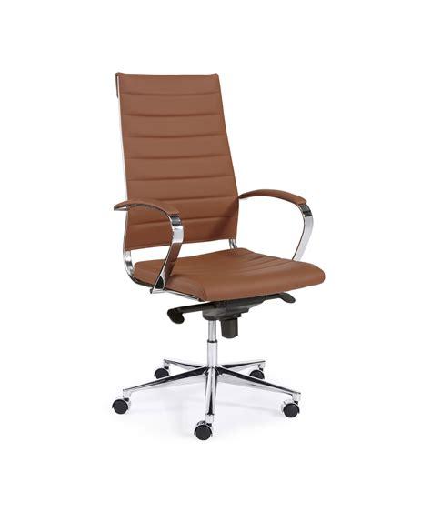 cognac bureau design bureaustoel hoge rug in bruin cognac bureaustoel nu