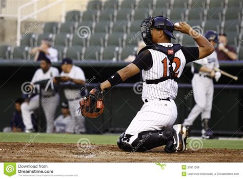 Baseball Catcher Throwing Ball Editorial Photo - Image: 20911356