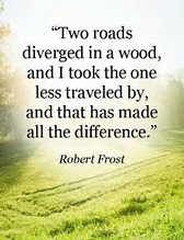 Image result for the road not taken a quote