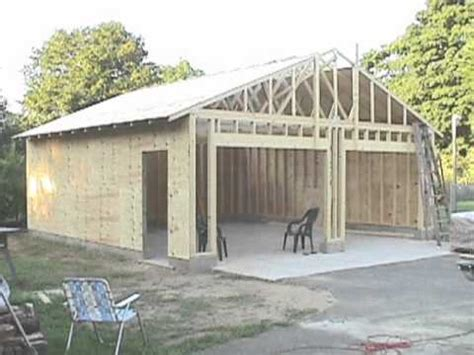 building a garage building your own 24 x24 garage and save money steps