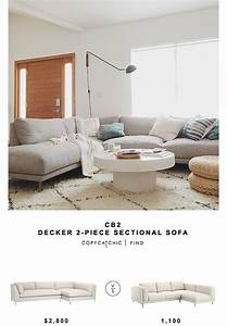 Cb2 decker 2 piece sectional sofa copycatchic for Decker 2 piece sectional sofa