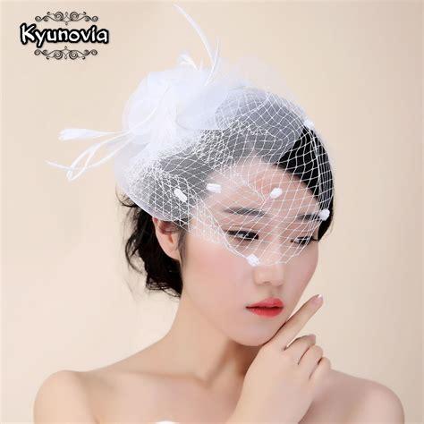 Buy Kyunovia Bridal Net Feather Hats