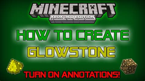 minecraft xb360 xb1 ps3 ps4 how to create glowstone