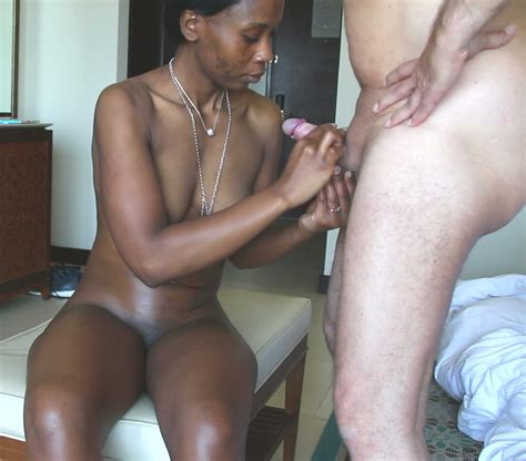 Perfect Black African Girl Loves Sucking My White Cock