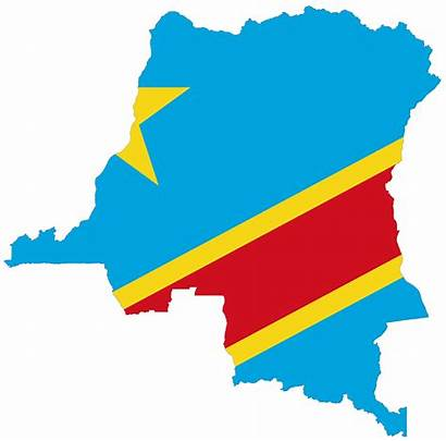 Congo Flag Republic Democratic Map Mapsof Colors