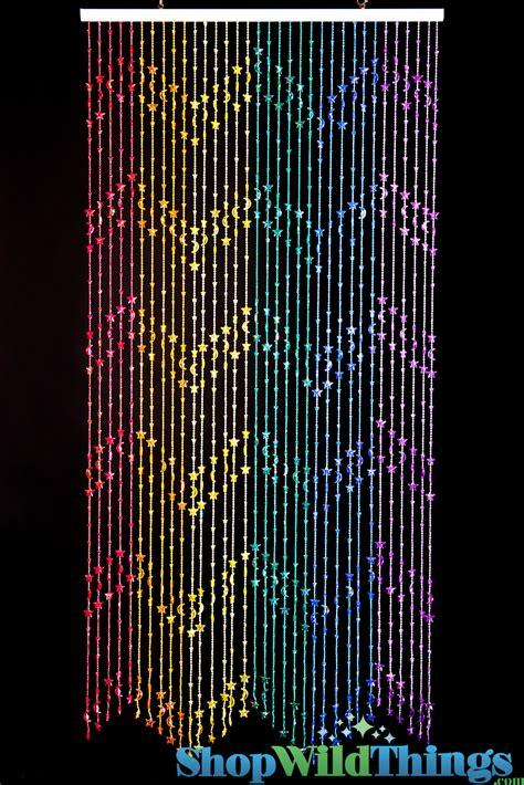 rainbow beaded curtains moons rainbow door