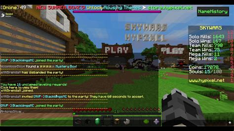 teach   party  disband  hypixel youtube