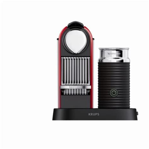 nespresso citiz  milk red coffee machine
