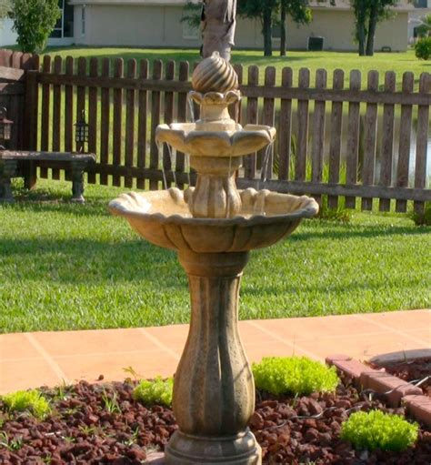 solar garden fountains kenroy home 50194ss arcade outdoor solar