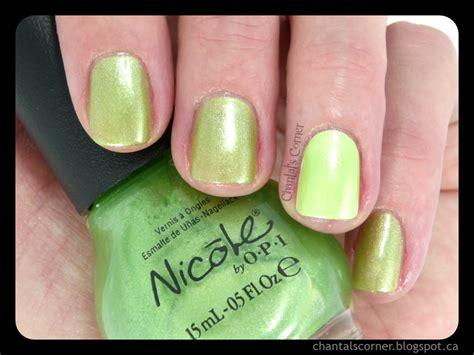 Nicole By Opi ''make Mine Lime'' Nail Polish