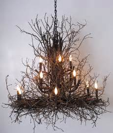 Rustic Chic Dining Room by Briarwood Branchelier Twig Chandelier Rustic Artistry