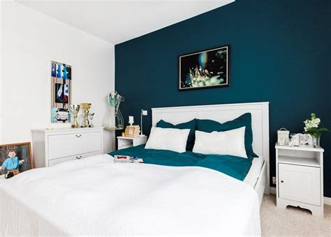 chambre bleu blanc couleur de peinture pour chambre tendance en 18 photos