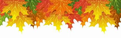 Border Leaves Fall Clip Clipart Upper Leaf