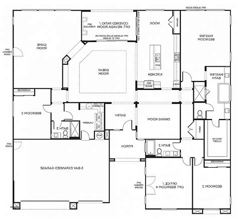 six bedroom floor plans house plan awesome 6 bedroom house plans one level 6