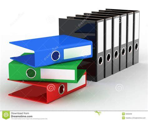 Varicoloured Office Files Stock Illustration. Image Of