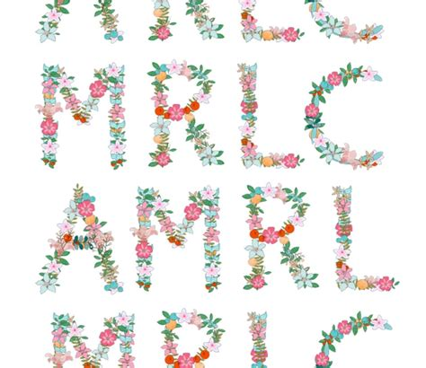 floral monograms  tattoo papermaritza lisa