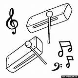 Wood Clipart Woodblock Blocks Block Coloring Instrument Instruments Pages Wind Chimes Musical Clip Drawing Thecolor Letter Clipground Related Band Starting sketch template