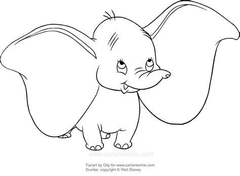 disegni a matita disney dumbo disegno di dumbo felice da colorare