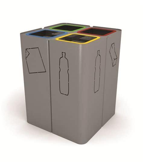 poubelle cuisine design poubelle en acier de tri sélectif minillero by lab23