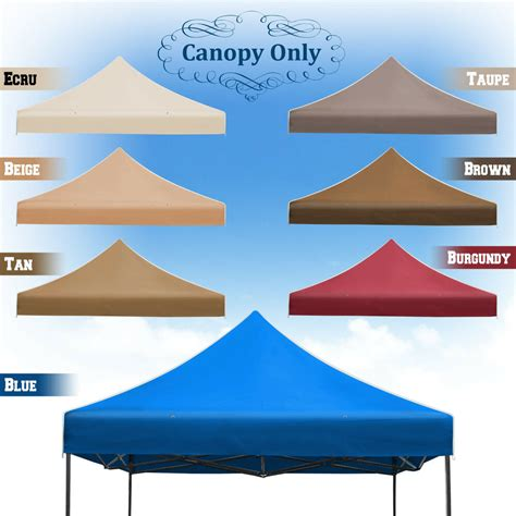 replacement canopy   ez pop  instant gazebo tent polyester cover ebay