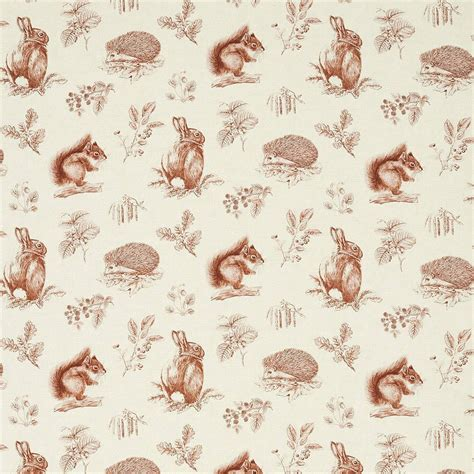 wallpaper designs for home interiors squirrel hedgehog fabric henna wheat 225524