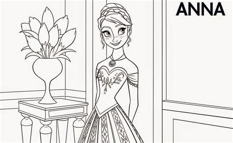coloring pages anna  elsa  coloring pages