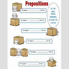 English Exercises Prepositions Of Place