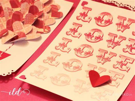 basteln zum valentinstag ideen zum valentinstag ich liebe deko