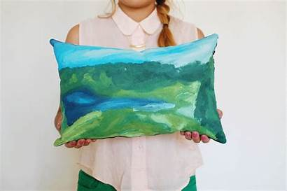 Pillow Paint Diy Numbers Own Gift Abeautifulmess