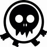 Monster Icon Skull Head Walking Vector Eyed
