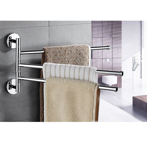 towel swivel holder bars stainless steel bath rack rail