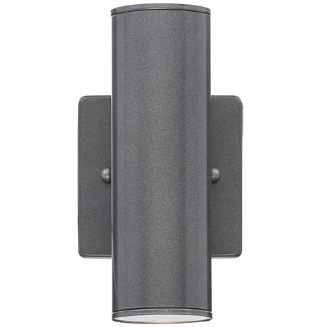 eglo riga 2 light anthracite outdoor cylinder wall light 84003a the home depot