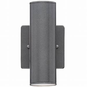 eglo riga 2 light anthracite outdoor cylinder wall light With eglo riga outdoor led wall lighting 200mm