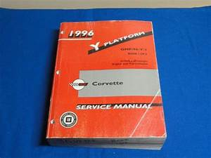 Buy 1996 Corvette Service Manual Y Platform Book 1 Of 2