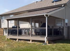 Covered Deck Plans Ideas by Covered Deck And Patio Pictures Built By All Weather Decks