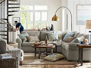 Pearce Sectional Farmhouse Industrial Living Room