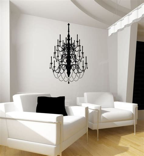 items similar to chandelier vinyl wall decal