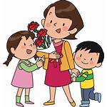 Mother Children Clipart Svg
