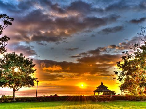 wailea sunset maui hawaii desktop background
